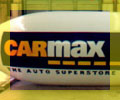 20 foot long white color advertising blimp with CarMax logo